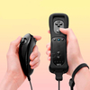 Black Set Wiimote with Silicone case + Nunchuk