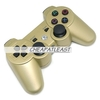 600mAh Rechargeable Wireless Dual-Shock Game Controller for PS3 (Golden)