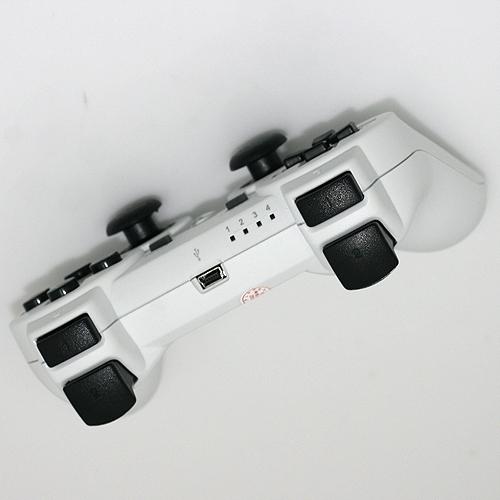 manette sans fil 2 4ghz sixaxis dualshock blanche pour ps3 cheapatleast. Black Bedroom Furniture Sets. Home Design Ideas
