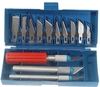 Complete Art-work Knifes with Carrying Case (13-Piece Set)