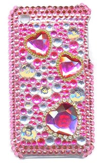 housing case with rhinestones  for apple iphone 3