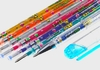 Multi-Colored Glitter Gel Pen with Interchangeable Inks (7-Piece Set)