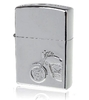 3D Motorbike Pattern oil  Lighter - chrome