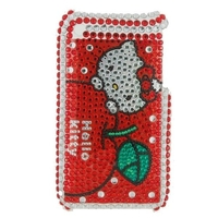 housing case, shell rhinestone - Hello Kitty - Pour Iphone 3g / 3gs