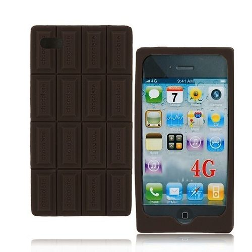 Shell Silicone Chocolate Bar Brown Iphone 4