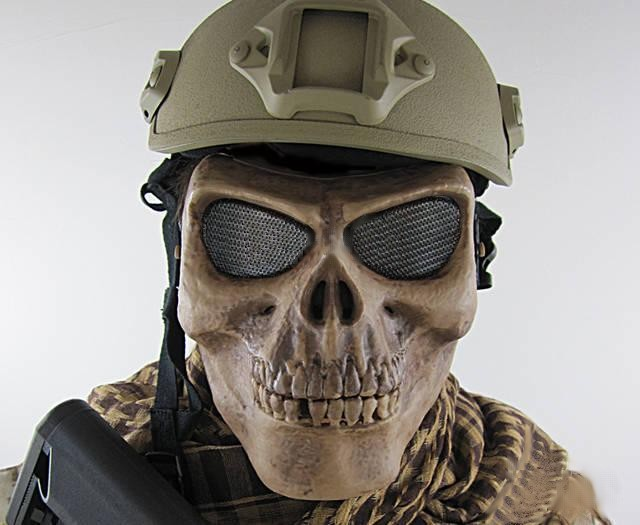 tactical airsoft face protection death skull safety mask black army of two mask paintball airso. Black Bedroom Furniture Sets. Home Design Ideas