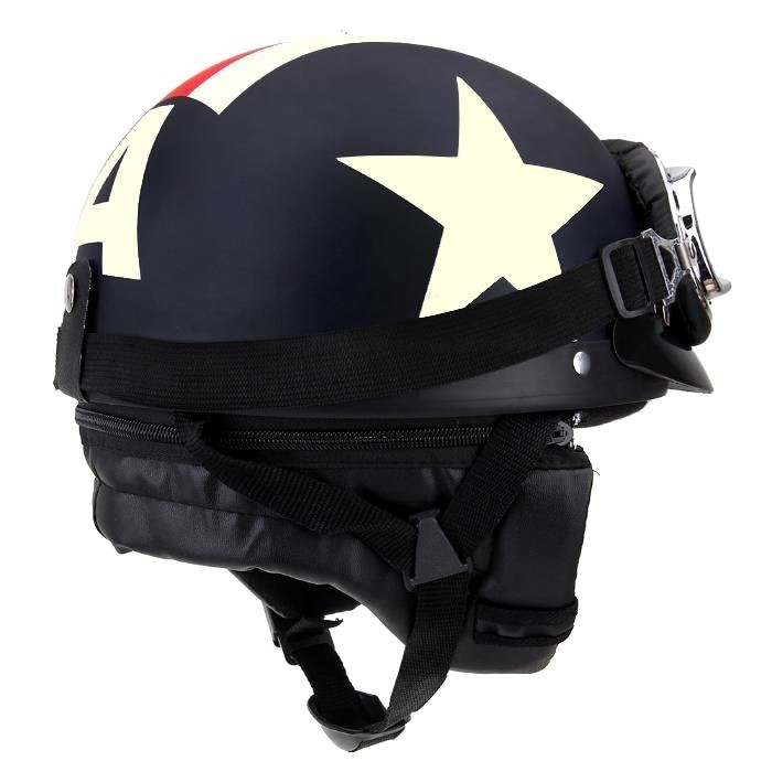 casque bol r tro moto vintage drapeau usa harley scooter vespa. Black Bedroom Furniture Sets. Home Design Ideas