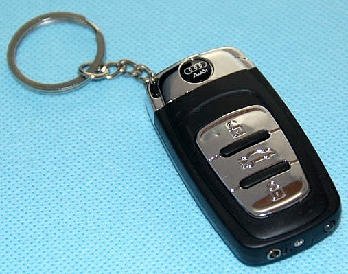 In KeyChain Gas Lighter And Flashlight Remote Key AUDI Shaped - Audi keychain