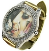 "wrist Watch ""Lady Gaga"" - rhinestones & Gold Bracelet -"