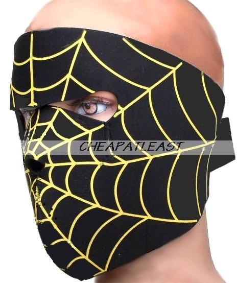 Masque int gral protection visage n opr ne toile araign e - Maquillage toile d araignee visage ...