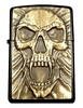 oil Black Storm Lighter - Zippo Style - skull / skull vampire Cut -