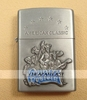 oil Storm Lighter (Zippo style) - Brushed Metal - Country Western (Sculpture) - American Classic