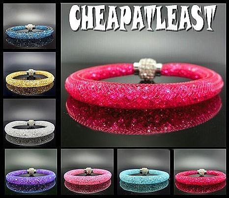 bracelet cristal stardust style swarovski fermoir strass pas cher. Black Bedroom Furniture Sets. Home Design Ideas