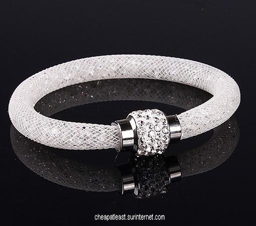 Bracelet Cristal Stardust Style Swarovski , Fermoir Strass