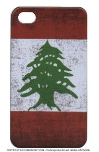 Hard case Flag of Lebanon for Iphone 4/4s