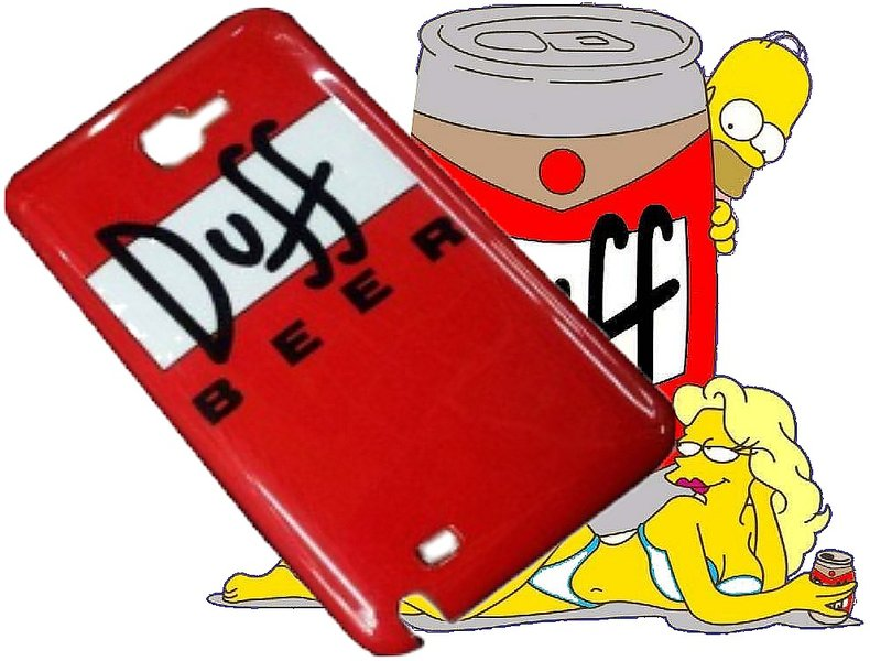 case Duff Beer Pour Samsung Galaxy Note I9220 / N7000