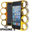 "Diamond gold Case for Iphone 5 - ""Knuckle Style Fashion"""