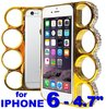 "Diamond gold Case for Iphone 6 / 4.7"" - Knuckle Style Fashion"