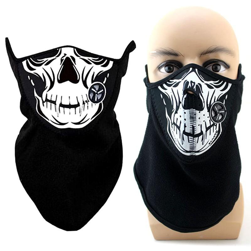 masque n opr ne tour de cou oreilles polaire chaud t te de mort. Black Bedroom Furniture Sets. Home Design Ideas