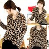 Veil Muslin Chiffon Leopard Blouse Extra Long Oversized Sleeves