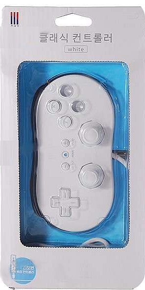 white classic controller for nintendo wii game cube. Black Bedroom Furniture Sets. Home Design Ideas