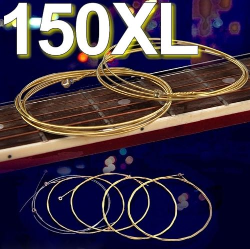 Set 6 Guitar Acoustic Strings 150XL Light - Steel & Pure Copper