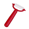 peeler ceramic blade, straight handle Red