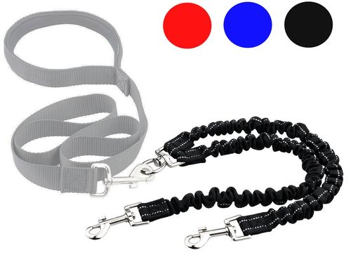 Shockproof: Double Elastic Extension for Leash for 2 Dogs