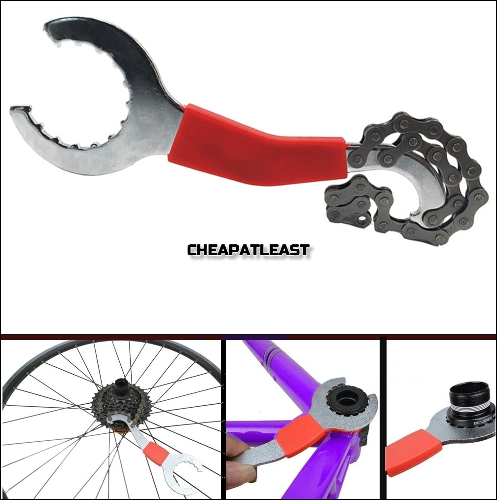 Semoic Outil Cle Fouet a Chaine Whip Demonte Cassette pour Velo Bicyclette Roue Libre