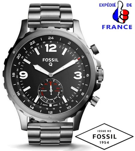 FOSSIL Q NATE SMART WATCH HYBRID CONNECTED STEEL GRAY