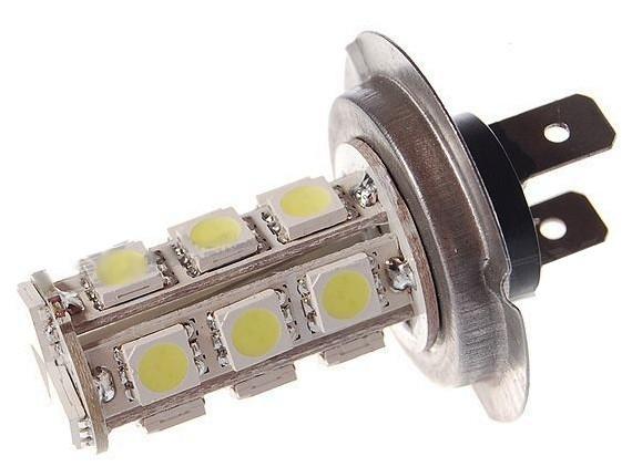 ampoule h7 18 led blanche 12v cheapatleast. Black Bedroom Furniture Sets. Home Design Ideas