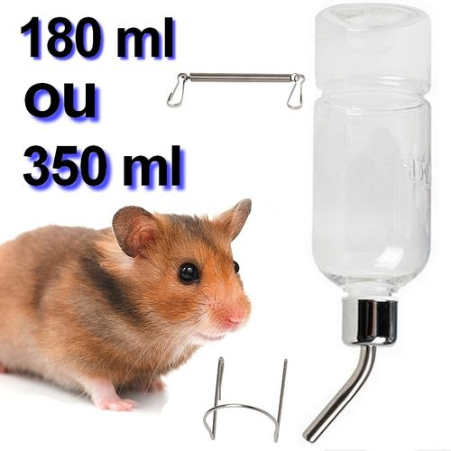 Bottle 350/180 ml Cage Drinker + its mountings for Rodent
