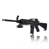 M16 BB Airsoft Spring Rifle Gun Toy with Laser and Light (Black)
