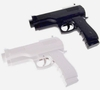 Black + White Pistol Gun Controller for Wii Remote