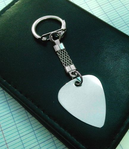 Keyring Chrome Steel Guitar Picks