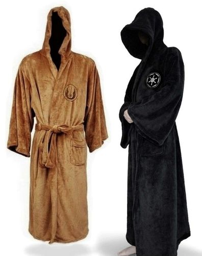 Star Wars Long Bathrobe Hooded Dressing gown Soft fleece