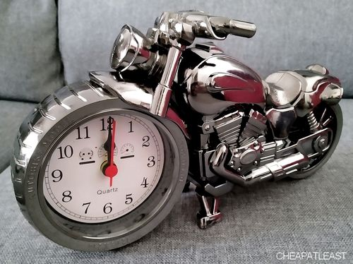 Motorcycle Chopper Harley Moto Alarm Clock