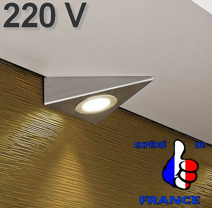 Applique Spot Triangle Led 220 Volts Sous Element Meuble Cuisine