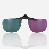 Verres clip-on vision 3D pour lunettes de vue - vert   magenta   violet 6d8f05e8e098