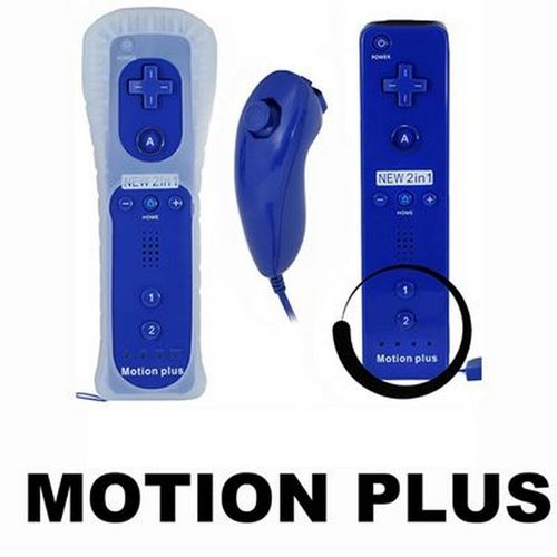 Wiimote Motion + & Nunchuk Pack - Dark Blue