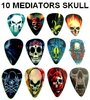 "10 Guitar Picks ""Skull"" Medium 0.71 Mm"