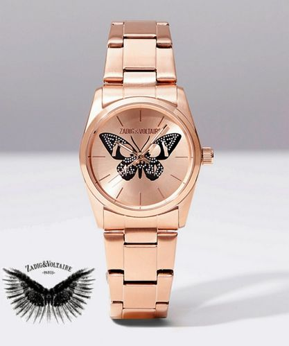 Zadig & Voltaire wrist watch TIMELESS BUTTERFLY - Rose Gold Steel