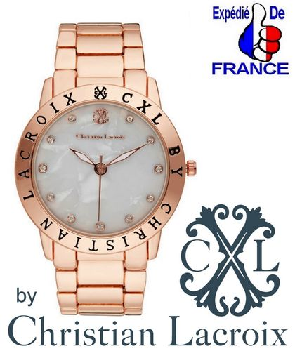 Christian Lacroix Couture Official Luxury Wrist Watch Rose Gold