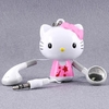 stereo headphones hello kitty - retractable (with reel)