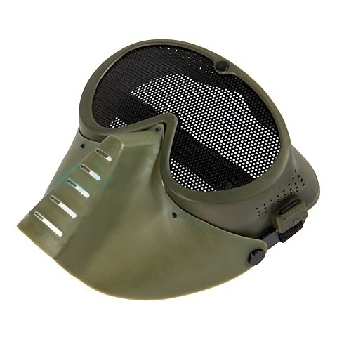 Cheap Protective mesh Mask full Face For Airsoft Green Khaki