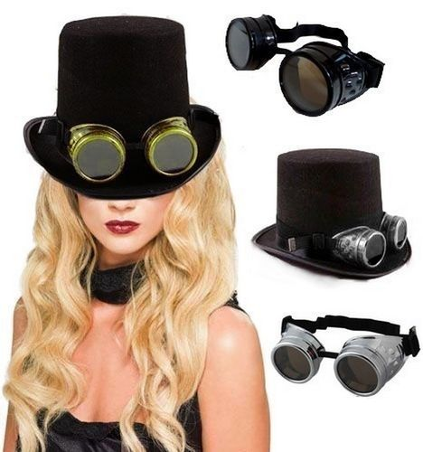 Lunettes cosplay Style Western Soudeur Steampunk