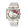 Rectangular Wrist watch - Hello Kitty - Silver Strap -