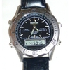 Men's Wrist Watch with Dual-Movement (Digital and analogic) (Black)