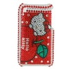 Coque Strass Rouge - Hello Kitty - Pour Iphone 3g / 3gs