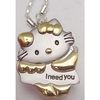 Collier avec Montre pendentif Hello Kitty ( I Need You )